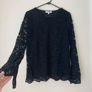 Relaxed Lace Long Sleeve Top